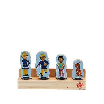 Fireman Sam Wooden 4-Figure Pack