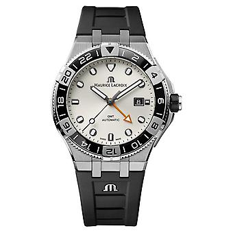 Maurice Lacroix Aikon Venturer GMT 43mm | Black Rubber Strap | White Dial AI6158-SS001-130-2 Watch