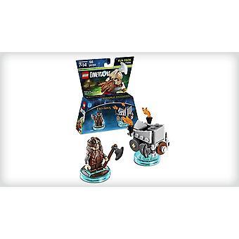 レゴ寸法楽しいパックのロード・オブ・リング・ギムリと斧のチャリオット71220