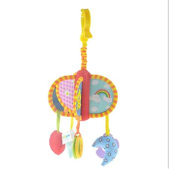 Rotating Cartoon Toys Campanula Music Box, Hanging Multiple Shapes Soft Pendants, Rotating Bedside