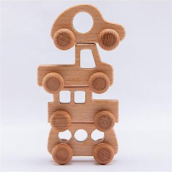 4kpl puinen Montessori Koulutus pyökki puu auto sarjakuva auto lelu
