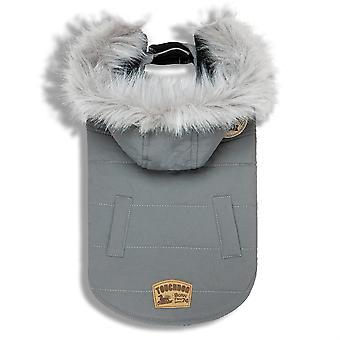 Touchdog 'Eskimo-Swag' Duck-Down Parka Dog Coat- X-Large/Grey