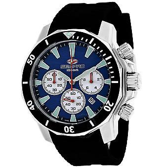 Seapro Scuba Dragon Diver Limited Edition 1000 Meters Chronograph Quartz Blue Dial Men's Watch SP8345R
