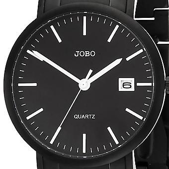 שעון יד של גברים JOBO קוורץ אנלוגי טיטניום תאריך צפייה גברים