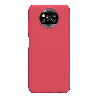 Nillkin Xiaomi Poco X3 NFC Frosted Shield Case - Shockproof Case Cover Cas Red
