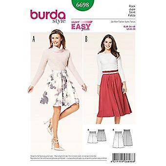 Burda Sewing Pattern 6698 Misses Gathered Waist Skirts Size 8-20 Euro 34-46