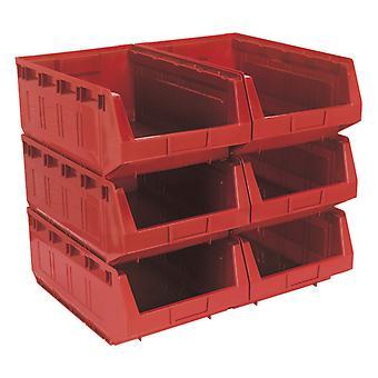 Tps56R سالي تخزين البلاستيك بن 310 × 500 × 190 مم-حزمة أحمر 6