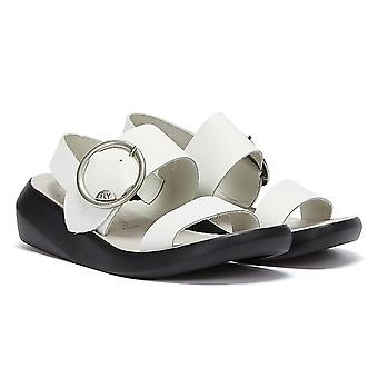 Fly London Bani Womens White Sandals
