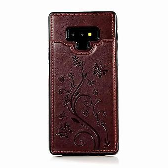 Multifunctional leather case for Samsung Galaxy S7 - Brown