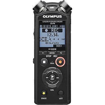 LS-P4 Hi-Res Audiorekorder mit TRESMIC 3-Mikrofonsystem, integriertem Bluetooth, direkt USB,