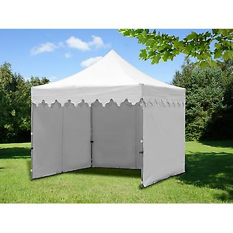 """Vouwtent/Easy up tent FleXtents PRO """"Morocco"""" 3x3m Wit, inkl. 4 zijwanden"""