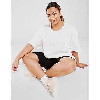 New Pink Soda Sport Women's Essentials Plus Size Boyfriend T-Shirt White