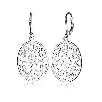 Elli Oorbellen Bloemen Vrouwelijk Ornament in Zilver 925
