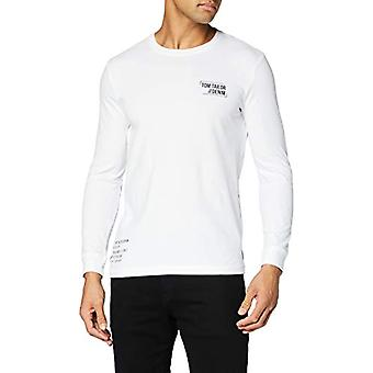 TOM SKRÄDDARE Denim Langarm Print T-Shirt, 20000-vit, XL Herr (2)