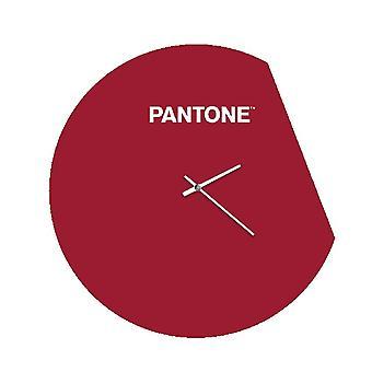 PANTONE Montre Moon Couleur Bordeaux, Blanc, en Métal L40xP0,15xA40 cm