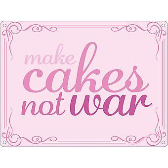 Grindstore جعل الكعك لا الحرب لوحة صغيرة
