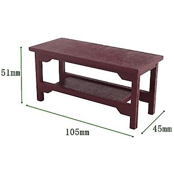 Mini Wooden Coffee Table Simulation End Table Furniture For Doll House
