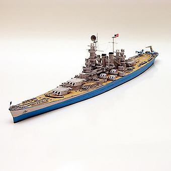 ספינת קרב Diy 3d נייר כרטיס מודל מודל סט, צעצוע חינוכי בנייה,