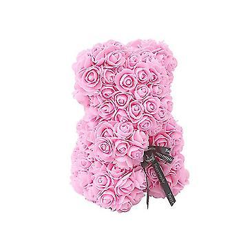 ضوء الوردي عيد الحب هدية 25 سم ارتفع دب هدية عيد ميلاد ¬ هدية يوم الذاكرة دمية دب az6099