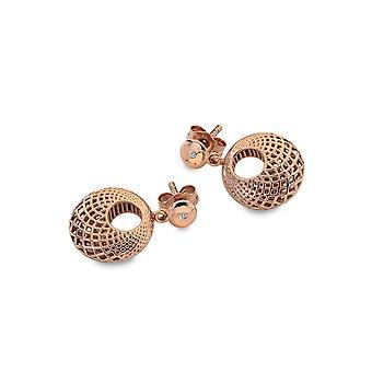 Hot Diamonds Quest Filigrane Circle Rose Or Boucles d'oreilles DE658
