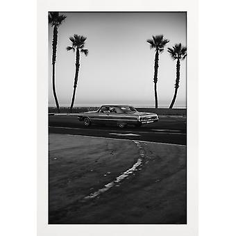 JUNIQE Print - Impala Cruise - Bilar Affisch i Svart & Vitt