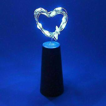 6st blå 20led krans koppar tråd corker sträng fairy ljus för glas hantverk flaska az12151