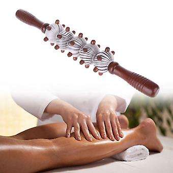 Wood Stick Roller Massager Tool