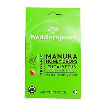 Wedderspoon Organic Manuka Honey Drops, Eucalyptus 4 OZ
