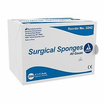 Dynarex Gauze Sponge, 4 X 4 Inch, 200 Count