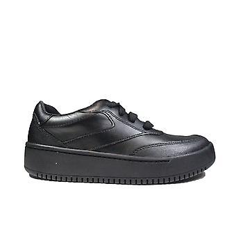 Clarks Tor Sport Flex Kids Black Leather Childrens School Shoes