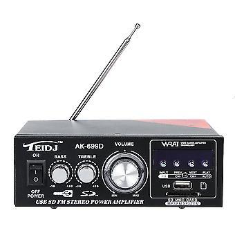 TEIDJ AK-699D 220V Mini Card Stereo reproduktor výkonový zesilovač Malý výkonový zesilovač