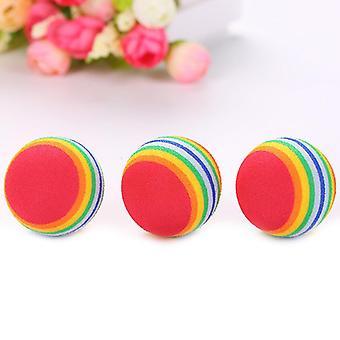 1pcs regenboog bal kat speelgoed kleurrijke bal