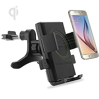 (Air Vent Qi Wireless Charger) Samsung Galaxy Grand Neo Universal Fast Charge QI Wireless Car Charger Station Mount Holder