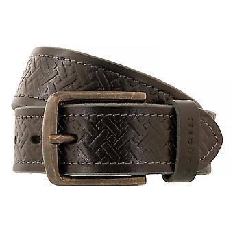 bugatti Belt Men's Belt Leather Belt Full Cattle Leather Black 4439
