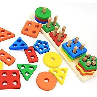 Juguetes educativos de madera para niños pequeños en edad preescolar