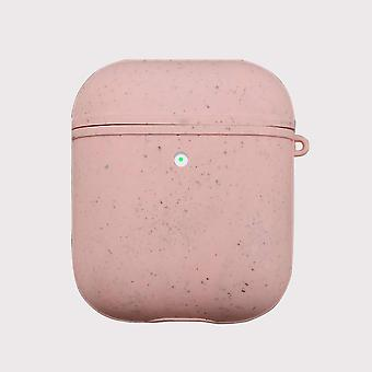 Pink eco friendly airpods case