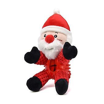 Squeaky سانتا كلوز الكلب أفخم اللعب