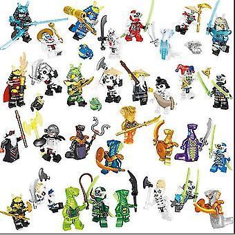 Ninjago Mini Figurer Kai Jay Sensei Wu Master Fit Lego Byggsten Leksak (32st)