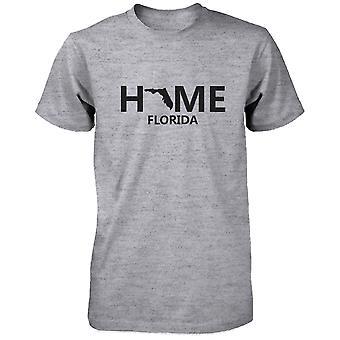 Koti FL valtion harmaa t-paita USA Florida kotikaupunki puuvilla t-paita