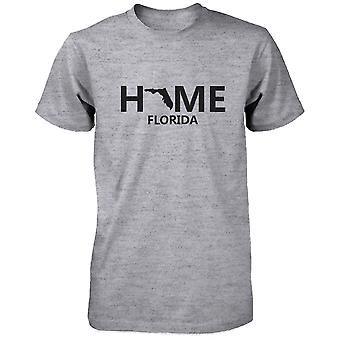 Home FL State Grey Men's T-Shirt US Florida Hometown Cotton Tee