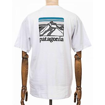 Patagonia Line Logo Ridge Pocket Responsibili Tee - White