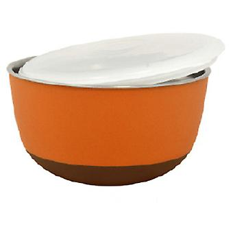 Duvo Stainless Steel Feeder with Lid Orange (Dogs , Bowls, Feeders & Water Dispensers)