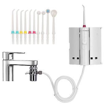 Dental floss 10 tips faucet oral irrigator portable water dental irrigator for teeth cleaning|oral irrigators
