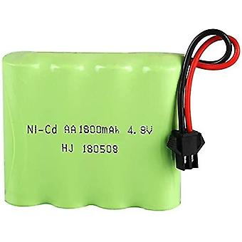 Rechargeable battery 4.8v ni-cd 1800mah for remote control car