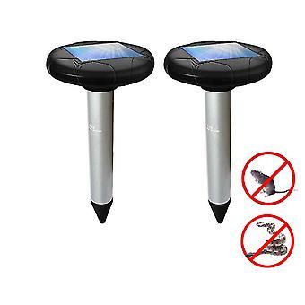 2 упаковки солнечных батарей отпугиватель вредителей отпугиватель для кротов, сусликов, змей