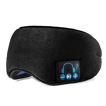 Bluetooth Natt Øyemaske Svart Søvn Øyemaske Trådløs Bluetooth 5.0 Musikkhodesett Med Innebygd HøyttalerMikrofon For Søvn / reise