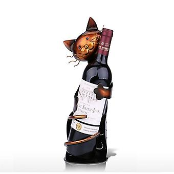 猫の形ワインラックワインラックラック金属オフィスホーム装飾ワインラック