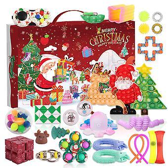 Fidgets Toy Pack Christmas Countdown Advent Calendar 24 Days Gift Box