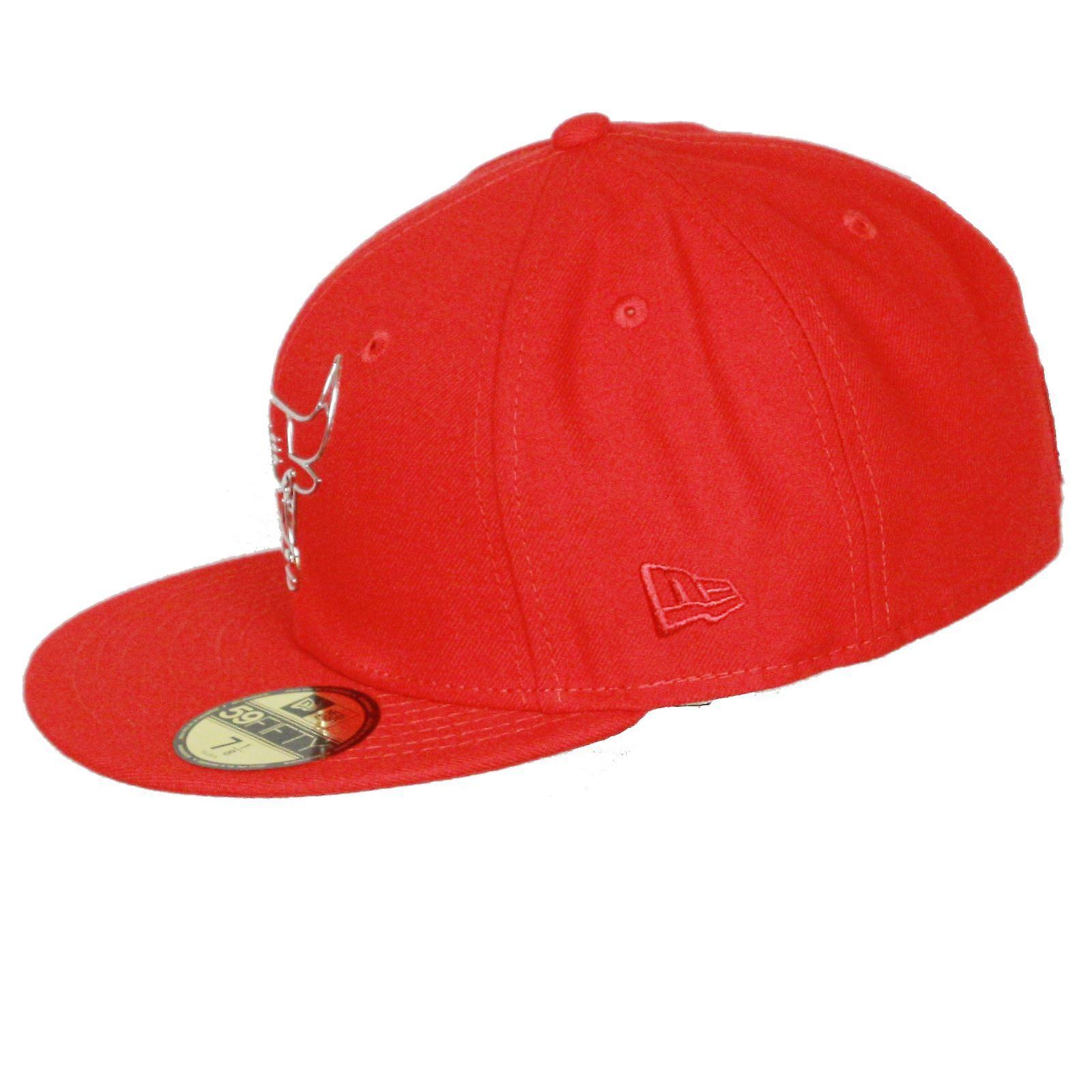 New Era and NBA NE Remix Liquid Logo 59Fifty Flatbill Cap ~  Chicago Bulls