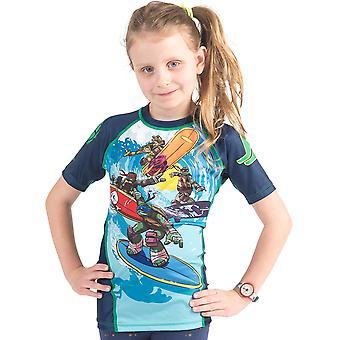 Fusion Kampf Gear Kid TMNT Sewer Surfin ' Kurzarm Rashguard